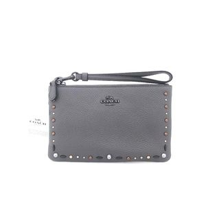 New COACH Small Wristlet with Prairie Rivets